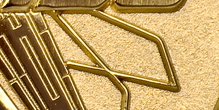 Sandblast Background Gold